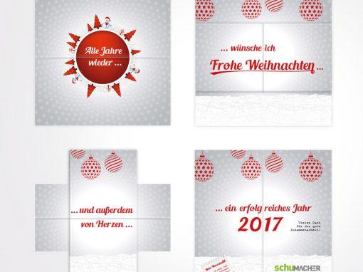 Weihnachtskarte als Loop-Folder